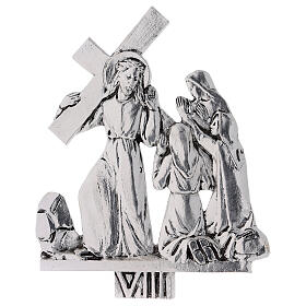 Vía Crucis 15 estaciones latón fundido 17 x 20 cm s8