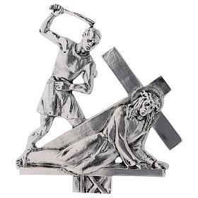 Vía Crucis 15 estaciones latón fundido 17 x 20 cm s9