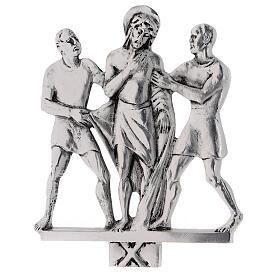 Vía Crucis 15 estaciones latón fundido 17 x 20 cm s10