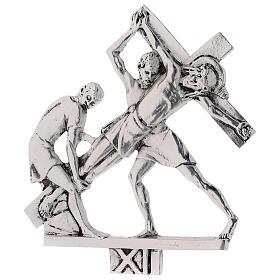 Vía Crucis 15 estaciones latón fundido 17 x 20 cm s11