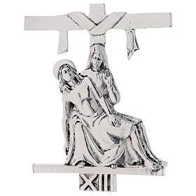 Vía Crucis 15 estaciones latón fundido 17 x 20 cm s13