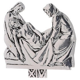 Vía Crucis 15 estaciones latón fundido 17 x 20 cm s14