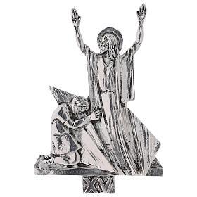 Vía Crucis 15 estaciones latón fundido 17 x 20 cm s15