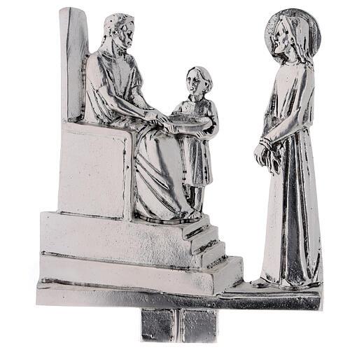 Vía Crucis 15 estaciones latón fundido 17 x 20 cm 1