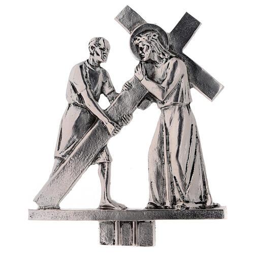 Vía Crucis 15 estaciones latón fundido 17 x 20 cm 2
