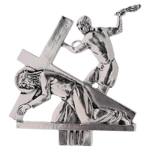 Vía Crucis 15 estaciones latón fundido 17 x 20 cm 3
