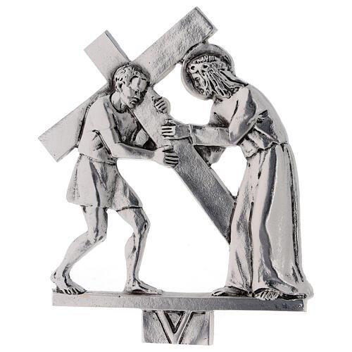 Vía Crucis 15 estaciones latón fundido 17 x 20 cm 5