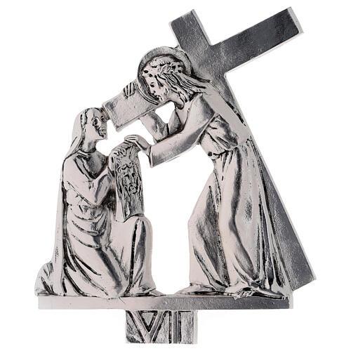 Vía Crucis 15 estaciones latón fundido 17 x 20 cm 6
