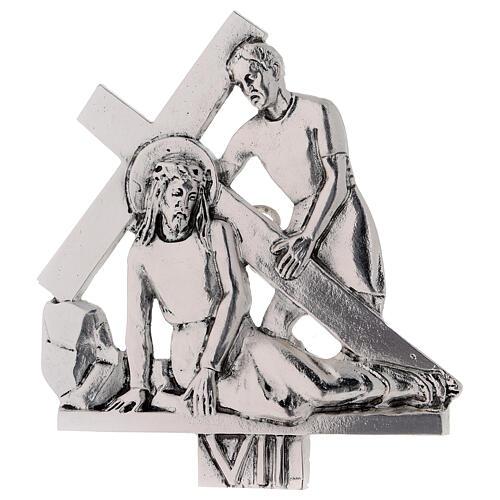 Vía Crucis 15 estaciones latón fundido 17 x 20 cm 7