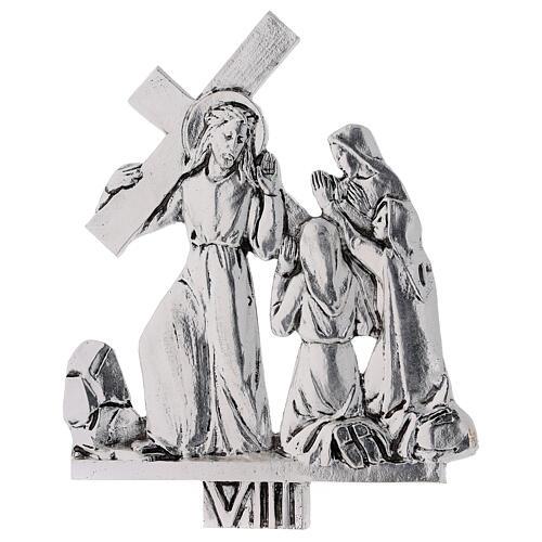 Vía Crucis 15 estaciones latón fundido 17 x 20 cm 8