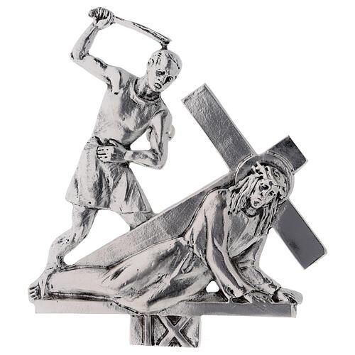 Vía Crucis 15 estaciones latón fundido 17 x 20 cm 9