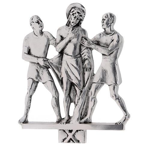 Vía Crucis 15 estaciones latón fundido 17 x 20 cm 10
