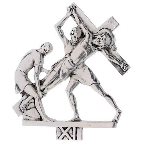 Vía Crucis 15 estaciones latón fundido 17 x 20 cm 11