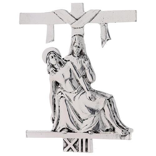 Vía Crucis 15 estaciones latón fundido 17 x 20 cm 13