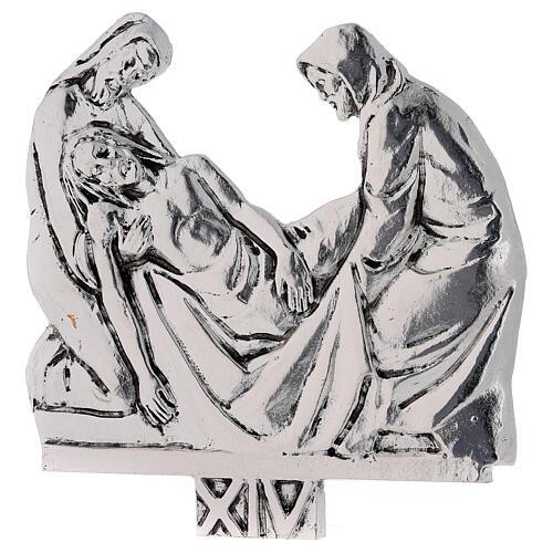 Vía Crucis 15 estaciones latón fundido 17 x 20 cm 14