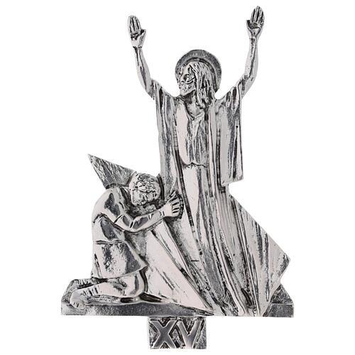 Vía Crucis 15 estaciones latón fundido 17 x 20 cm 15