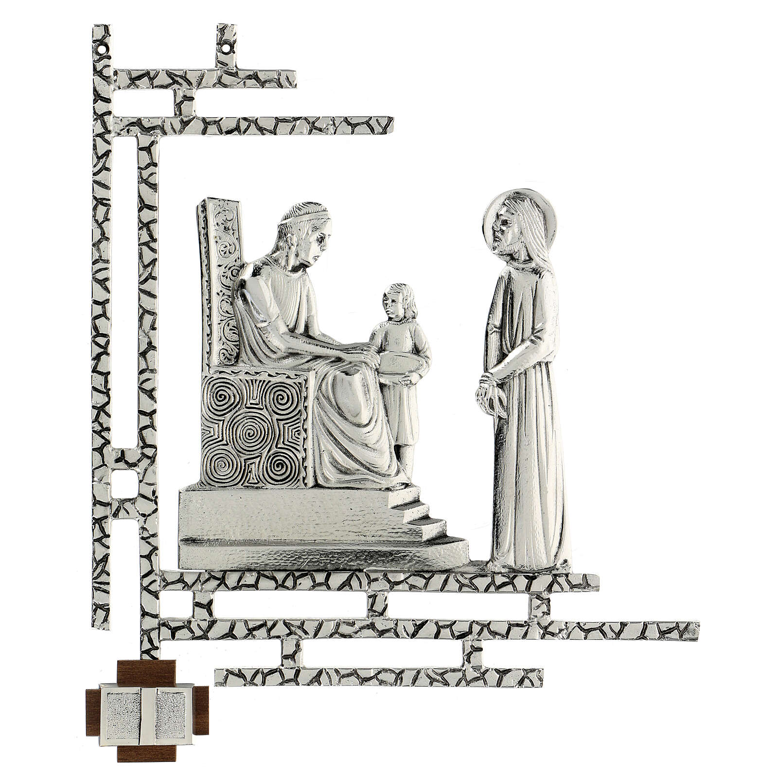 Way of the cross, 15 stations 33x40cm in silver brass 4