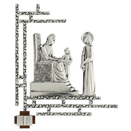 Way of the cross, 15 stations 33x40cm in silver brass 1