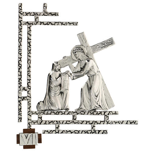 Way of the cross, 15 stations 33x40cm in silver brass 6