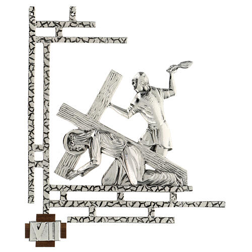 Way of the cross, 15 stations 33x40cm in silver brass 7