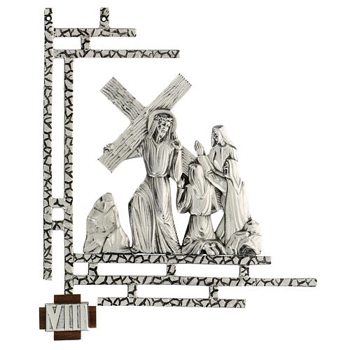 Way of the cross, 15 stations 33x40cm in silver brass 8