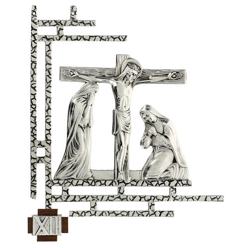 Way of the cross, 15 stations 33x40cm in silver brass 12