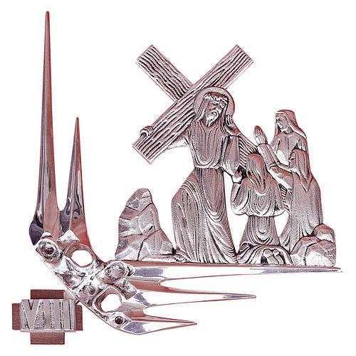 Via Crucis 15 stazioni 32x34 cm ottone argento 1