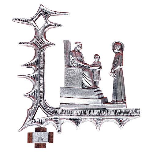 Chemin croix laiton argenté 15 stations 30x27 cm 1