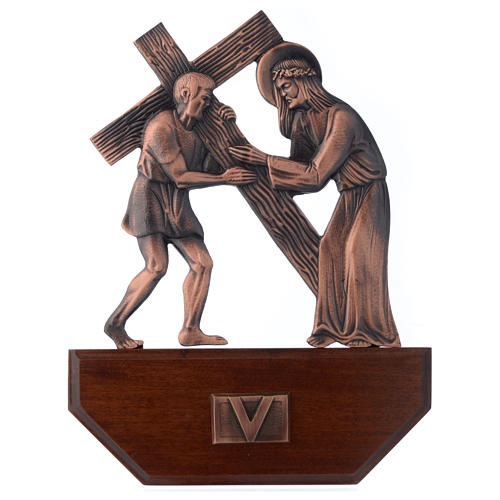Way of the Cross, 15 stations 24x30cm in wood 5