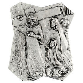 Via Crucis silver-plated brass 14 stations, 22x18cm s8