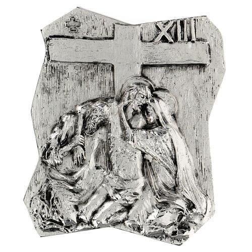 Via Crucis silver-plated brass 14 stations, 22x18cm 13