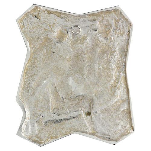 Via Crucis silver-plated brass 14 stations, 22x18cm 16
