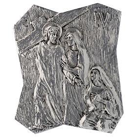 Via Crucis ottone argentato 14 stazioni 22x18 cm s4