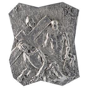 Via Crucis ottone argentato 14 stazioni 22x18 cm s9