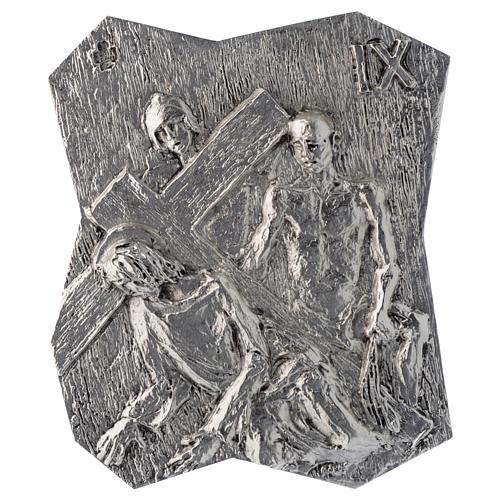 Via Crucis ottone argentato 14 stazioni 22x18 cm 9