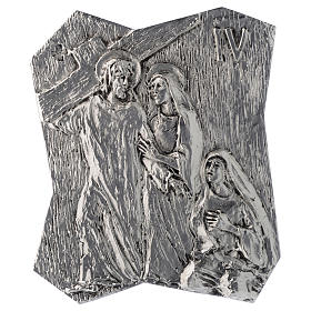 Via Crucis silver-plated brass 14 stations, 22x18cm s4
