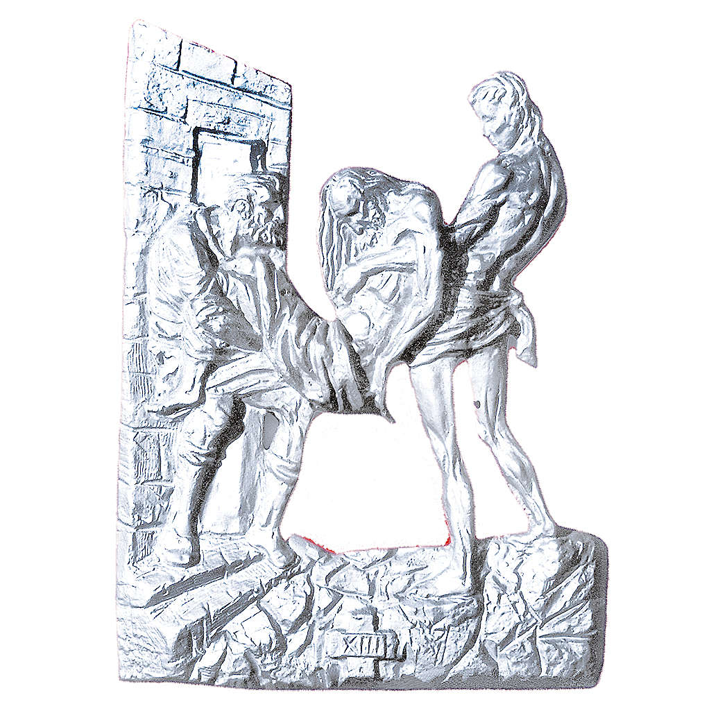Stations of the Cross in silver-plated brass, 14 stations 60x50cm 4