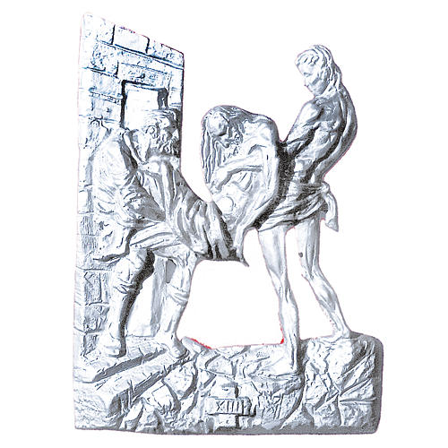 Stations of the Cross in silver-plated brass, 14 stations 60x50cm 1