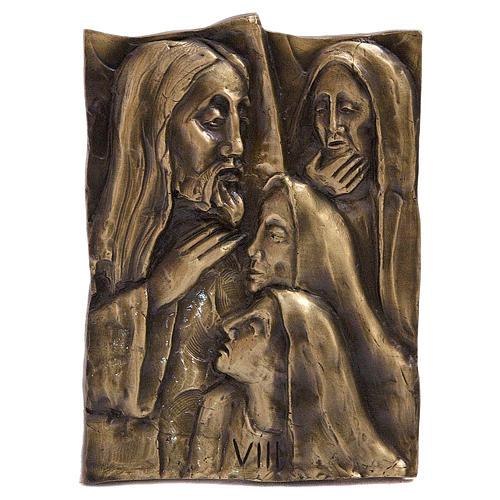Via Crucis ottone fuso bronzo naturale 14 stazioni 1