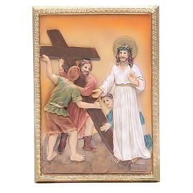 Via Crucis 14 stazioni resina 16,5x11,5cm s2