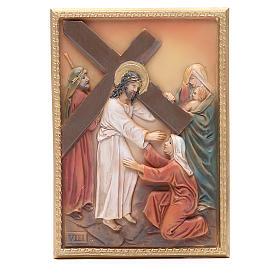 Via Crucis 14 stazioni resina 16,5x11,5cm s8