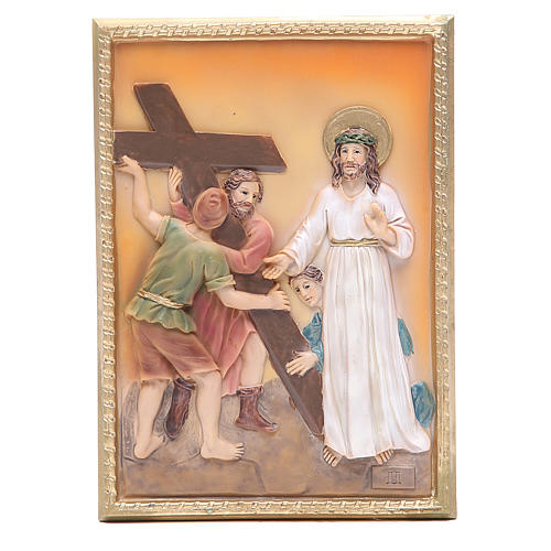 Via Crucis 14 stazioni resina 16,5x11,5cm 2
