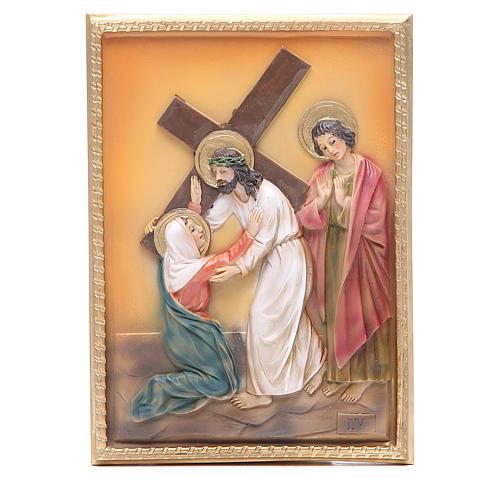 Via Crucis 14 stazioni resina 16,5x11,5cm 4