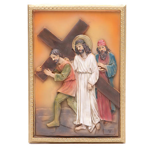 Via Crucis 14 stazioni resina 16,5x11,5cm 5