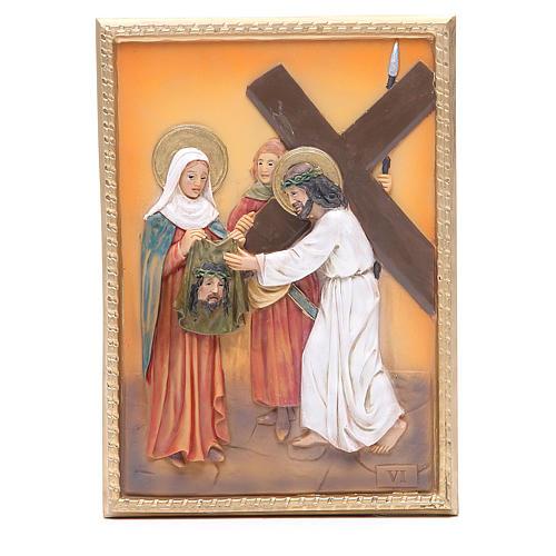 Via Crucis 14 stazioni resina 16,5x11,5cm 6
