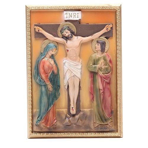 Via Crucis 14 stazioni resina 16,5x11,5cm 12