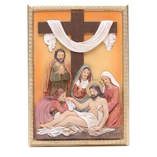 Via Crucis 14 stazioni resina 16,5x11,5cm 13