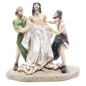Way of the Cross, 14 stations in resin, 8-10 cm s10