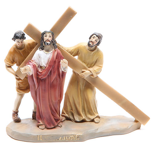 Way of the Cross, 14 stations in resin, 8-10 cm 2