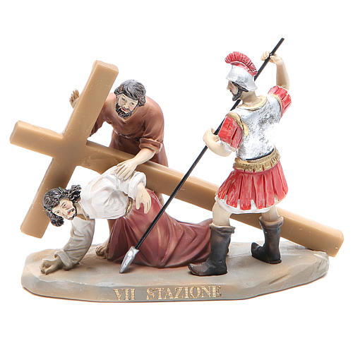 Way of the Cross, 14 stations in resin, 8-10 cm 7